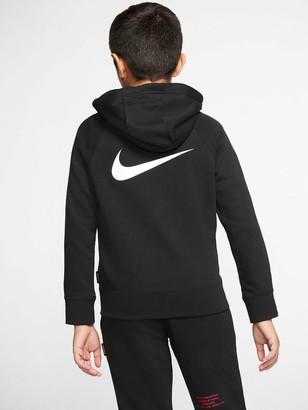 Nike NSWOlder Boys Swoosh Full Zip Hoodie - Black