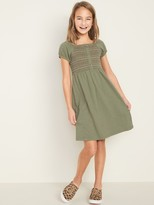 Old Navy Smocked Button-Front Dress for Girls