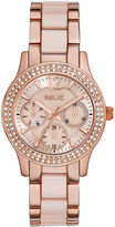 JCPenney RELIC Relic Bethany Womens Crystal-Accent Rose-Tone Bracelet Watch ZR15790