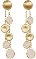 Rivka Friedman Faceted Rose Quartz Satin Cascading Pebble Earrings
