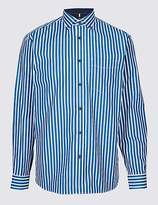 Blue Harbour Luxury Pure Cotton Striped Shirt