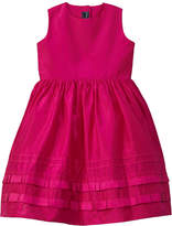 Oscar de la Renta Girls' Taffeta Ruffle Silk-Lined Dress