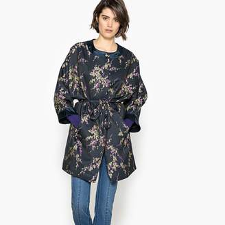 La Redoute Collections Belted Jacquard Coat