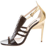 Ruthie Davis Patent Leather Cage Sandals
