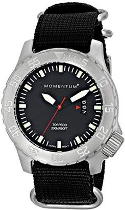 Momentum Men's Sports Watch | Torpedo Dive Watch by | Stainless Steel Watches for Men | Analog Watch with Japanese Movement | Water Resistant (200M/660FT) Classic Watch - / 1M-DV74B7B