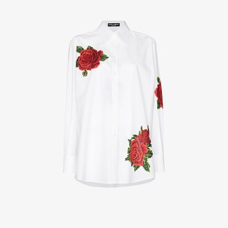 Dolce & Gabbana Rose Embroidery Shirt