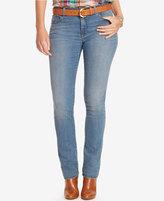 Lauren Ralph Lauren Plus Size Premier Straight-Leg Jeans, Rinse Wash
