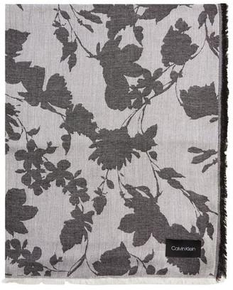 Calvin Klein A0WS6016 Chambray Floral Pashmina Scarf
