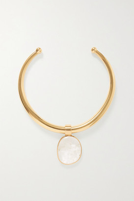 Tohum Lumia Gold-plated And Crystal Choker - one size