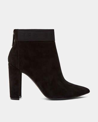 Ted Baker PRENOM Suede block heel ankle boots