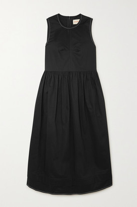 &Daughter Evelyn Stretch-cotton Twill Midi Dress - Black