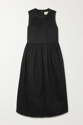 &Daughter Evelyn Stretch-cotton Twill Midi Dress