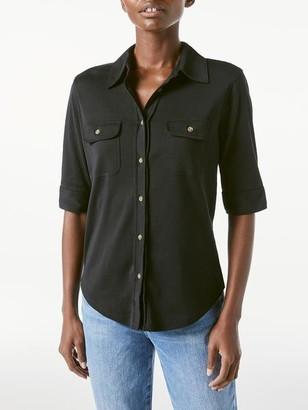 Frame 70s Knit Short Sleeve Shirt