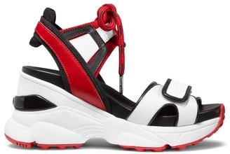 MICHAEL Michael Kors Irma Mix Media Leather Sandal Sneakers