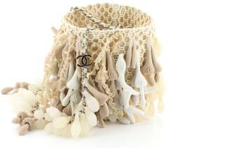 Chanel Seashell Coral Bucket Bag Crochet Mini