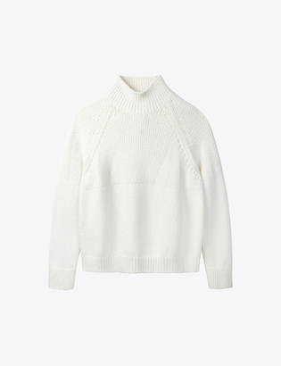 The White Company Funnel-neck knitted jumper
