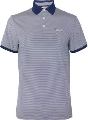 RLX Ralph Lauren Striped Tech-Jersey Golf Polo Shirt