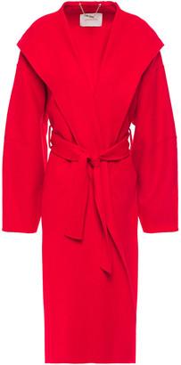 Zimmermann Ninety Six Wool-felt Hooded Wrap Coat