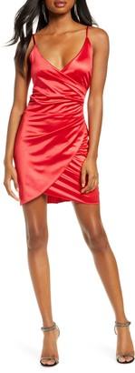 Sequin Hearts Sleeveless Satin Envelope Cocktail Dress
