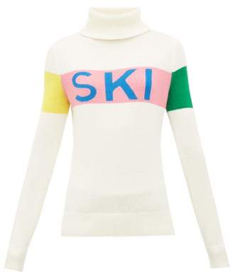 Perfect Moment Ski-intarsia Roll-neck Wool Sweater - Womens - White