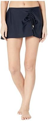 Cabana Life Essentials Swim Skirt Bottoms (Black) Women's Swimwear