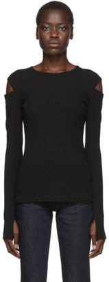 Helmut Lang Black Rib Slash Long Sleeve T-Shirt