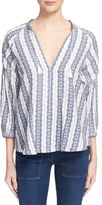 Sea Women's Stripe Linen Top