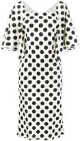 Dolce & Gabbana polka dot midi dress - women - Silk/Spandex/Elastane - 46