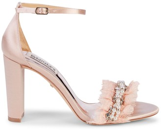 Badgley Mischka Embellished Heeled Sandals