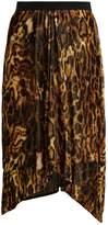Isabel Marant Tursanne asymmetric-hem leopard-print velvet skirt