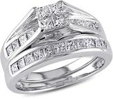 Julie Leah 1 CT TW Diamond 14K White Gold Bridal Ring Set