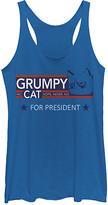 Fifth Sun Women's Tank Tops ROY - Grumpy Cat 'For President' Tank - Women & Juniors