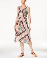 Style&Co. Style & Co Style & Co Petite Printed Handkerchief-Hem Dress, Created for Macy's