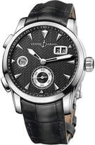 Ulysse Nardin 3343-126-912 Classic Dual Time stainless steel watch