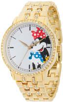 Disney Princess Disney Minnie Mouse Womens Gold Tone Bracelet Watch-Wds000384