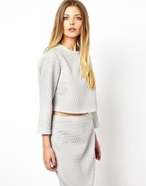 Asos Shell Top in Origami Jacquard