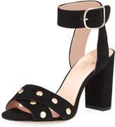 Kate Spade Oakwood City Studded City Sandal, Black