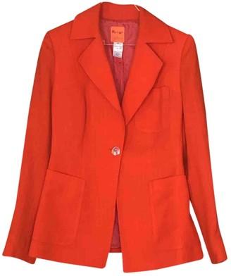 Christian Lacroix Orange Wool Jacket for Women Vintage