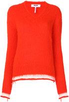 MSGM stripe detail sweater