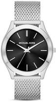 Michael Kors Silver-Tone Slim Runway Watch, 44mm x 49mm