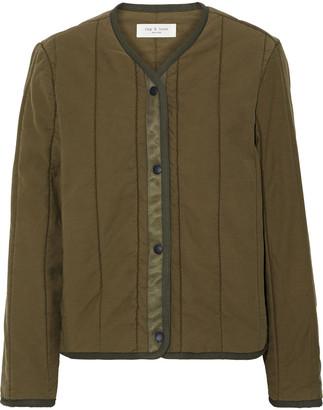 Rag & Bone Liner Quilted Slub Cotton-canvas Jacket