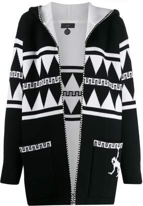 Alanui hooded knit cardi-coat