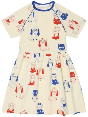 Mini Rodini Mini Babies printed stretch-cotton dress