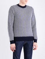 Sandro Contrasting-trims wool jumper