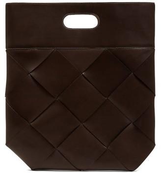 Bottega Veneta Slip Medium Intrecciato Leather Tote - Womens - Brown