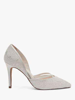 Rainbow Club Georgia Luxury Lace Pointed Court Shoes, Ivory
