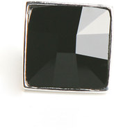Square Lux Ring in Jet