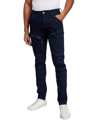 G Star Men's Air Defence Zip Skinny Elto Raw Stretch Jeans