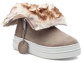 J/Slides Women's Tristan Faux Fur Lined Waterproof Sneaker Boots
