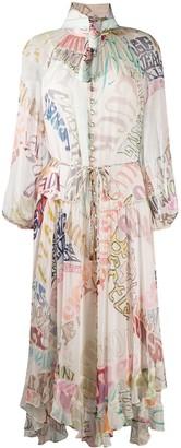 Zimmermann Ladybeetle flared midi dress